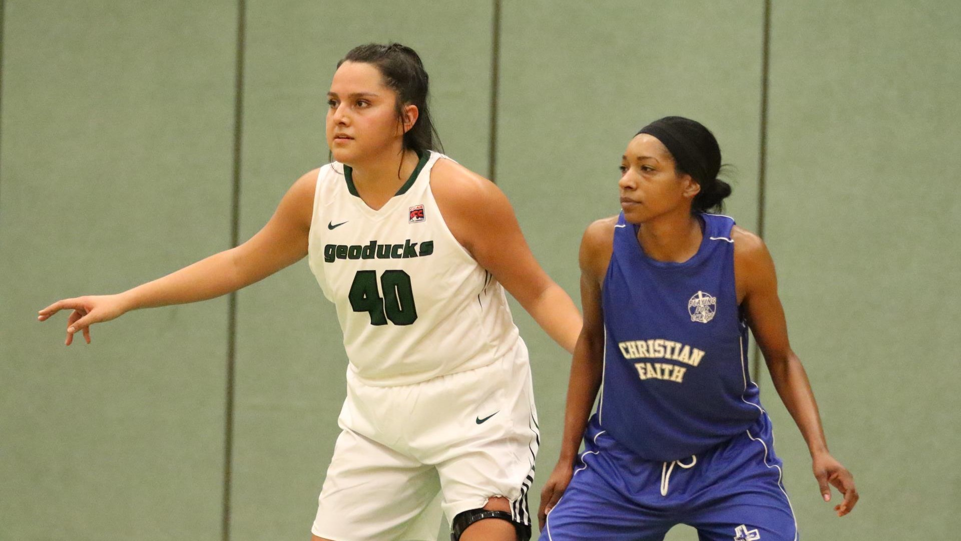 Evergreen Beats Christian Faith in Exhibition Game